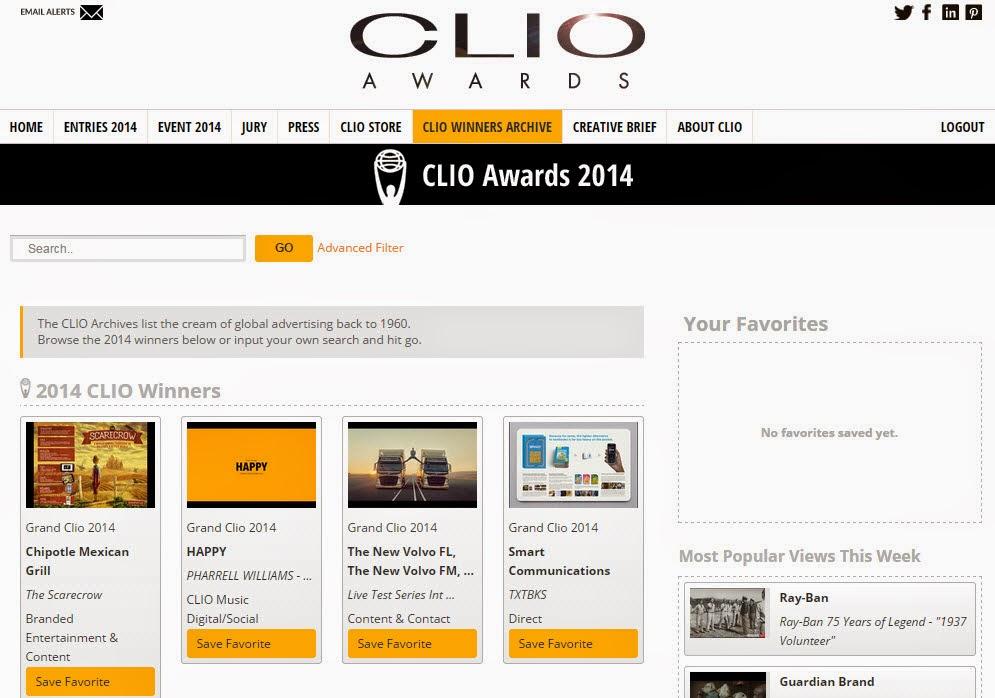 Clio Awards 2014 H