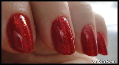 kleancolor scarlett chunky holo nail polsih