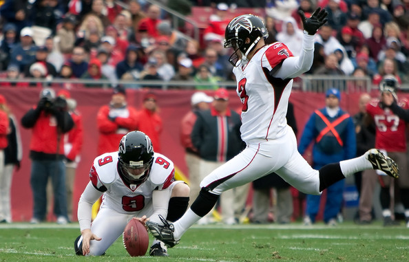 The ultimate role specialization. (Matt Bryant of the Atlanta Falcons)