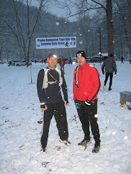 Before the Start of the Frozen Sasquatch 50K - Me and Jeff
