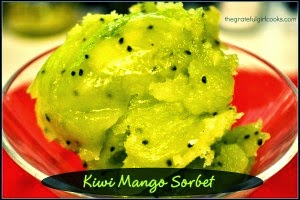 Kiwi and Mango Sorbet