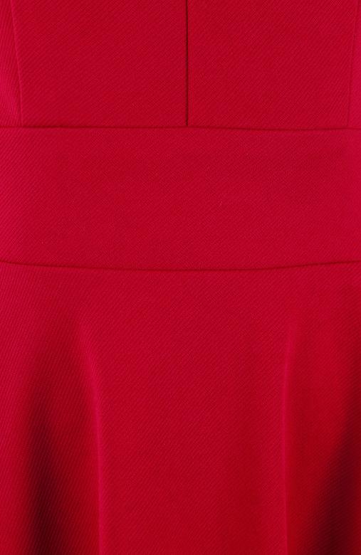 Red 50s-Siren Cross Back Skater Dress