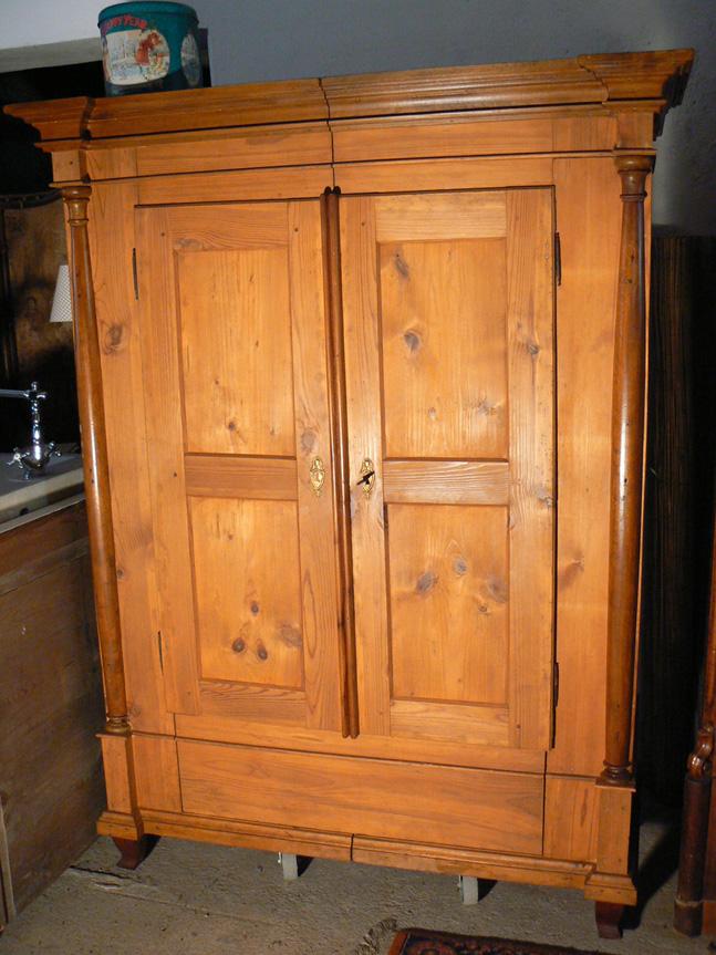 biedermeier halbs ulenschrank um 1820 ebay. Black Bedroom Furniture Sets. Home Design Ideas