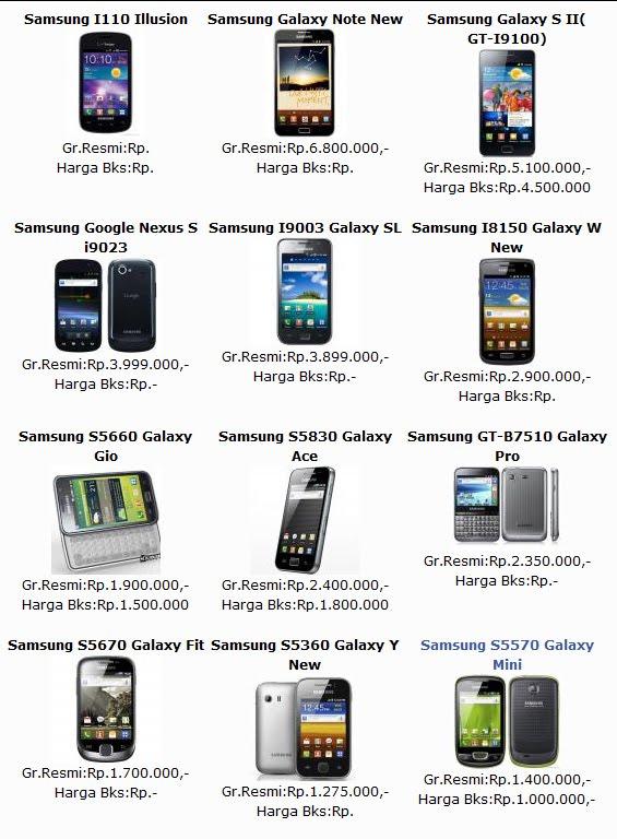 Daftar Harga HP Samsung Terbaru Agustus 2013