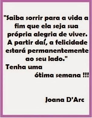Mensagem da Professora Joana D'Arc