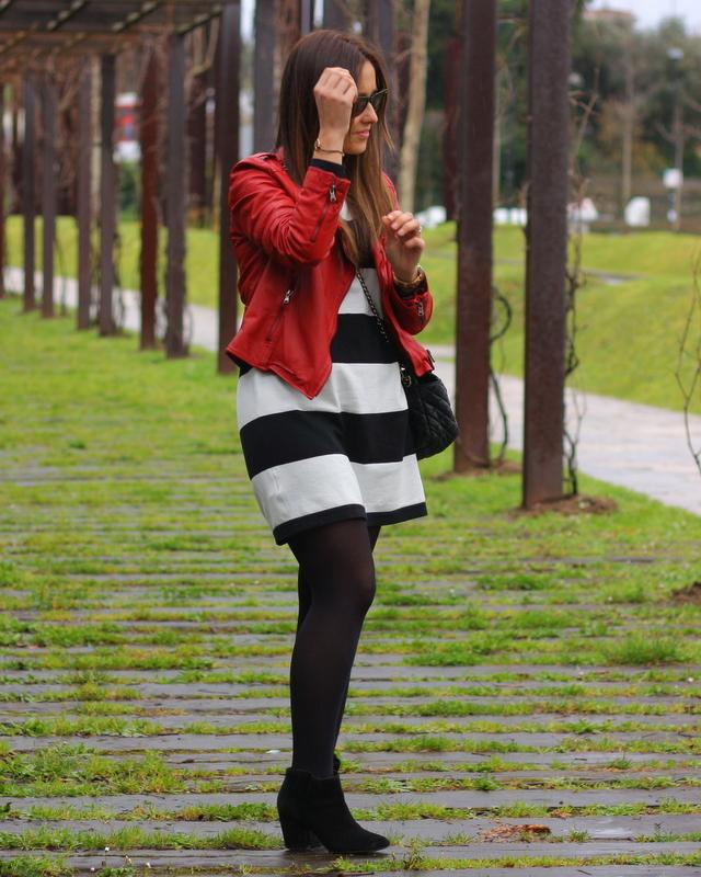 vestido rayas mango
