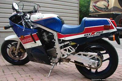 Suzuki GSX-R750 1986 Edição Limitada a mais rápida esportiva