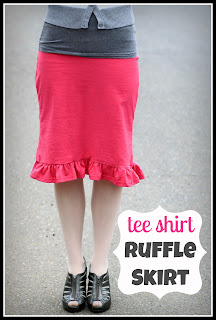 DIY knit t-shirt ruffle skirt