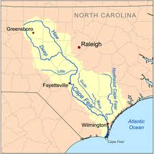 History of the Cape Fear River Map of the Cape Fear River