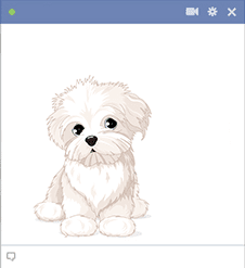 Handsome Pup Emoticon