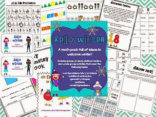 http://www.teacherspayteachers.com/Product/Hello-Winter-Math-Mega-Pack-AdditionSubtraction-Geometry-Patterns-463828