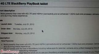 Blackberry Playbook 4G LTE Segera Hadir Pada 31 Juli