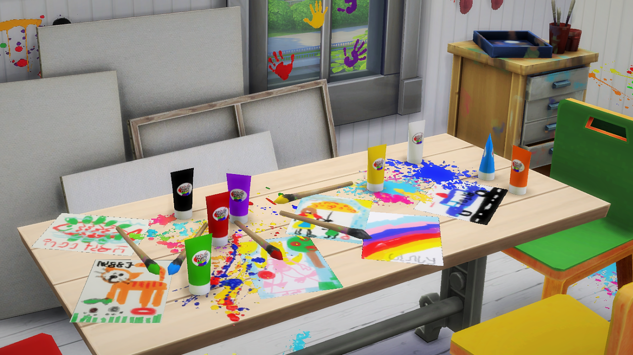 My Sims 4 Blog Kid S Painting Set By Budgie2budgie