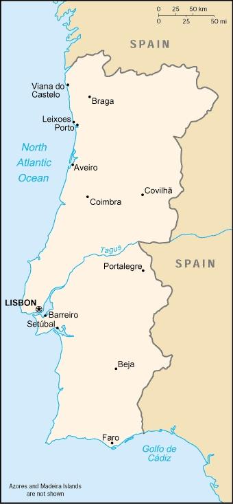 Croquis del Mapa de Portugal