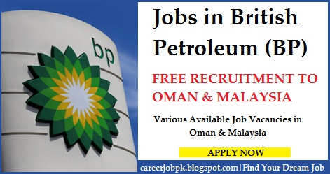 Latest jobs in British Petroleum (BP) Oman & Malaysia