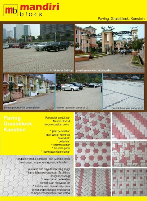 Mandiri Block - Brosur Paving Block , Grassblock , Conblock , Kanstin , Kanstein