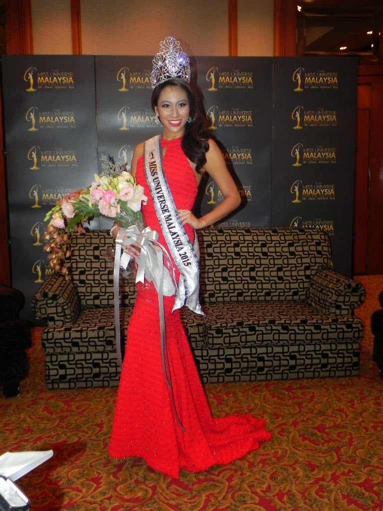VANESSA TEVI. THE MISS UNIVERSE MALAYSIA 2015 WINNER.