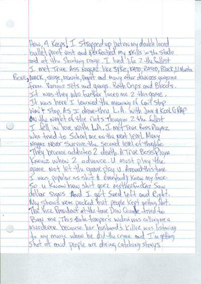 Tupac's is thug life dead letter