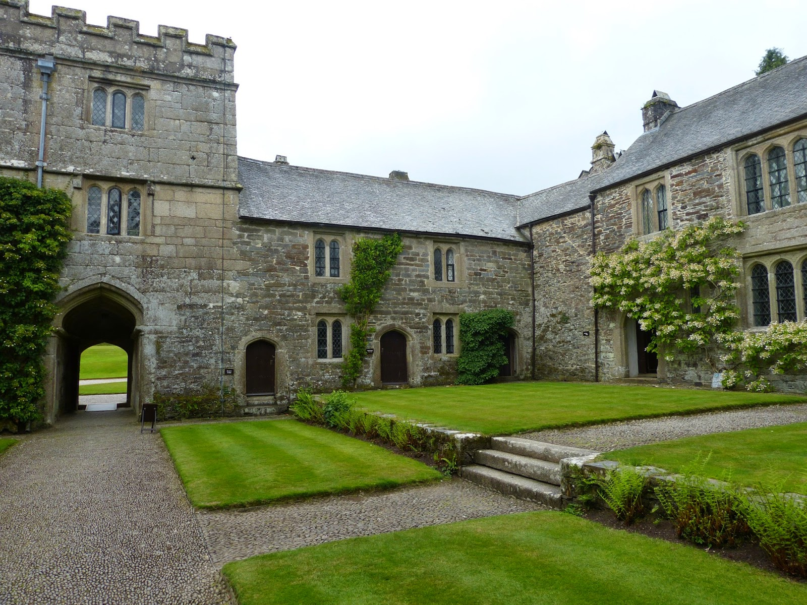 The courtyard at Cotehele