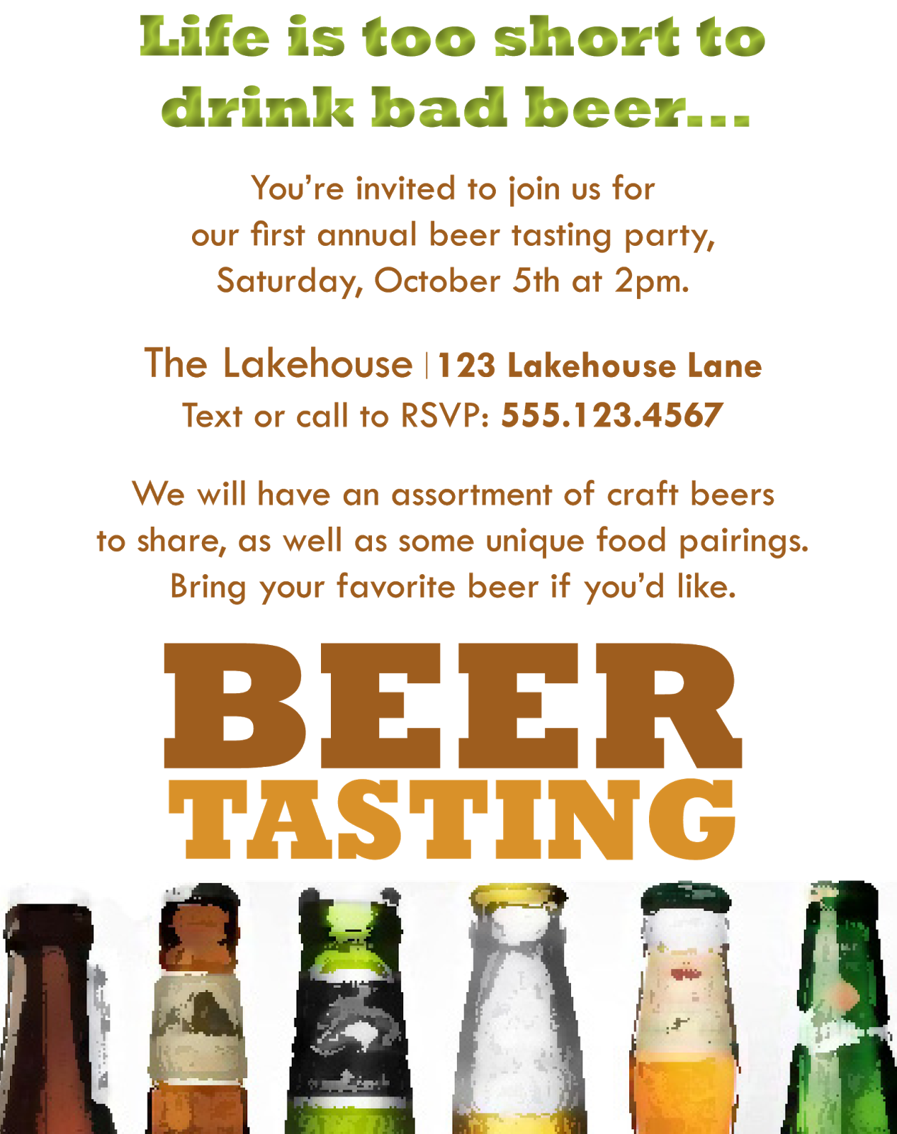Beer Tasting Party Invitations images – Beer Tasting Party Invitations