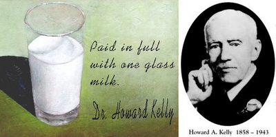 Paid in full with one glass milk- Dr. Howard Kelly, Inspirational story, Motivational story, small story.