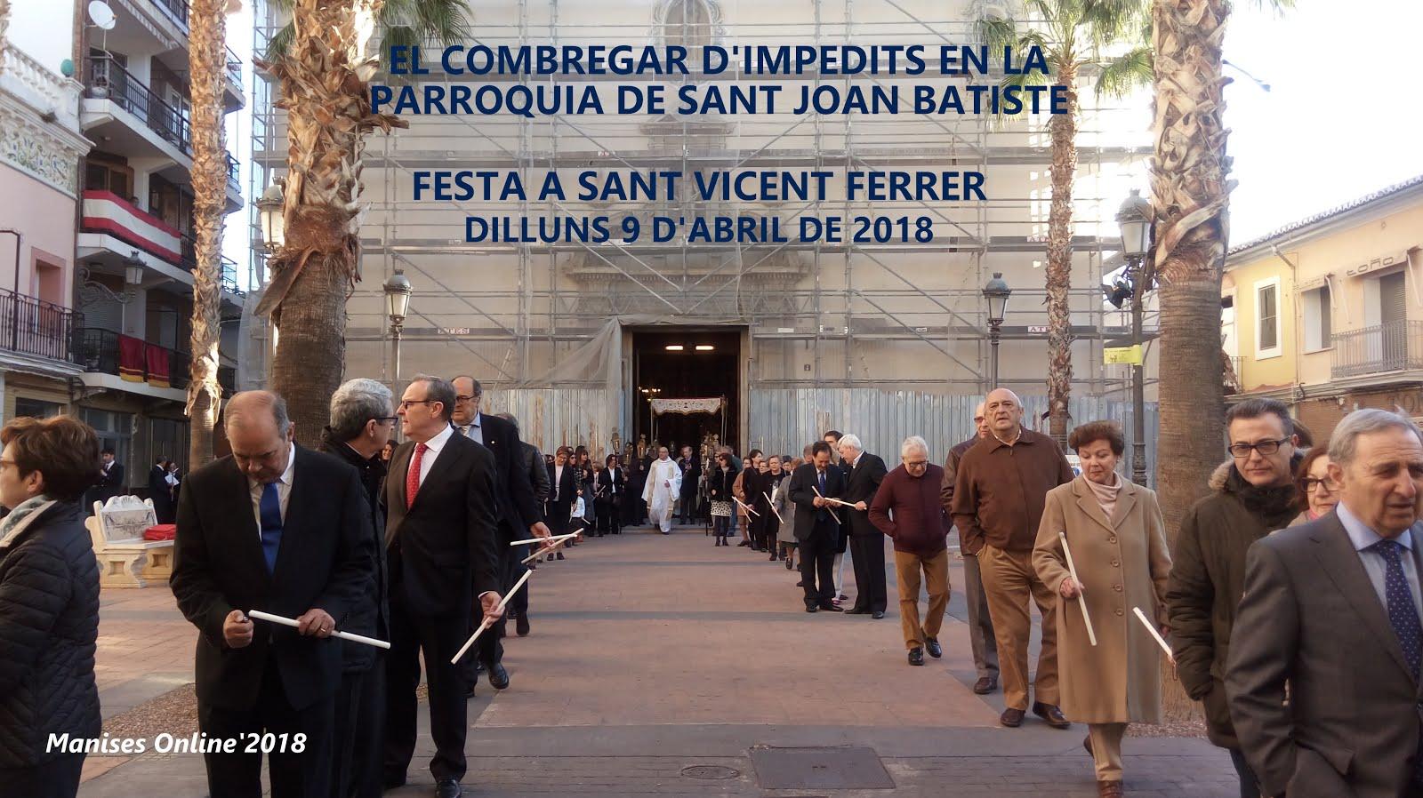09.04.18: EL COMBREGAR D'IMPEDITS EN MANISES