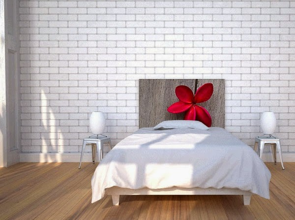 Bed Headboard Ideas With Red Flower Style Modern
