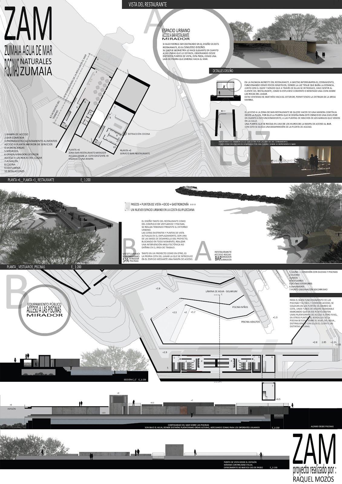 Raquel mozos de la fuente piscinas naturales en zumaia for Plataforma de arquitectura
