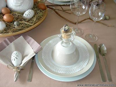 decoracion mesa Pascua servilletero