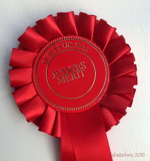 Judges Merit Award - Malvern Quilts UK 2015 rosette