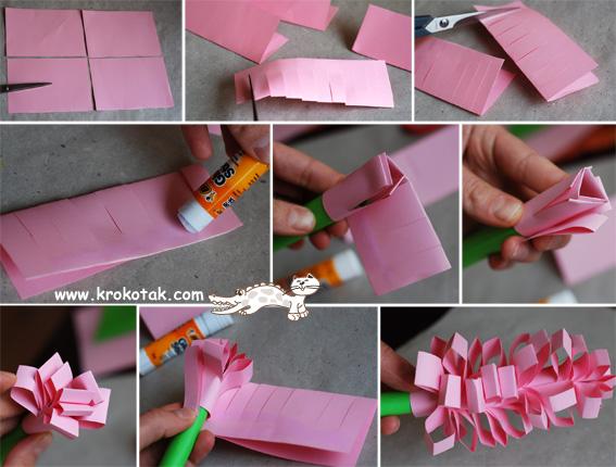 Как сделать цветы из гофрированной бумаги пошагово фото 797
