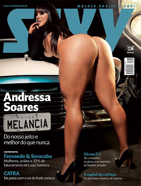 Confira as fotos da mulher melancia, Andressa Soares, capa da Sexy julho de 2011!