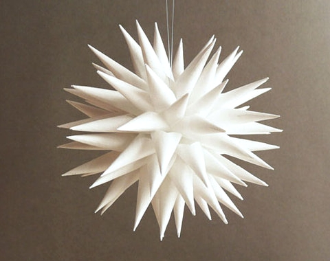 paper sea urchin ornament