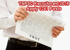 1241 Posts of TNPSC, TNPSC Recruitment 2015 Apply Online, TNPSC Revenue Assistant Posts Recruitment 2015, TNPSC Junior / Senior Inspector Recruitment 2015, TNPSC Notification for 1241 Posts