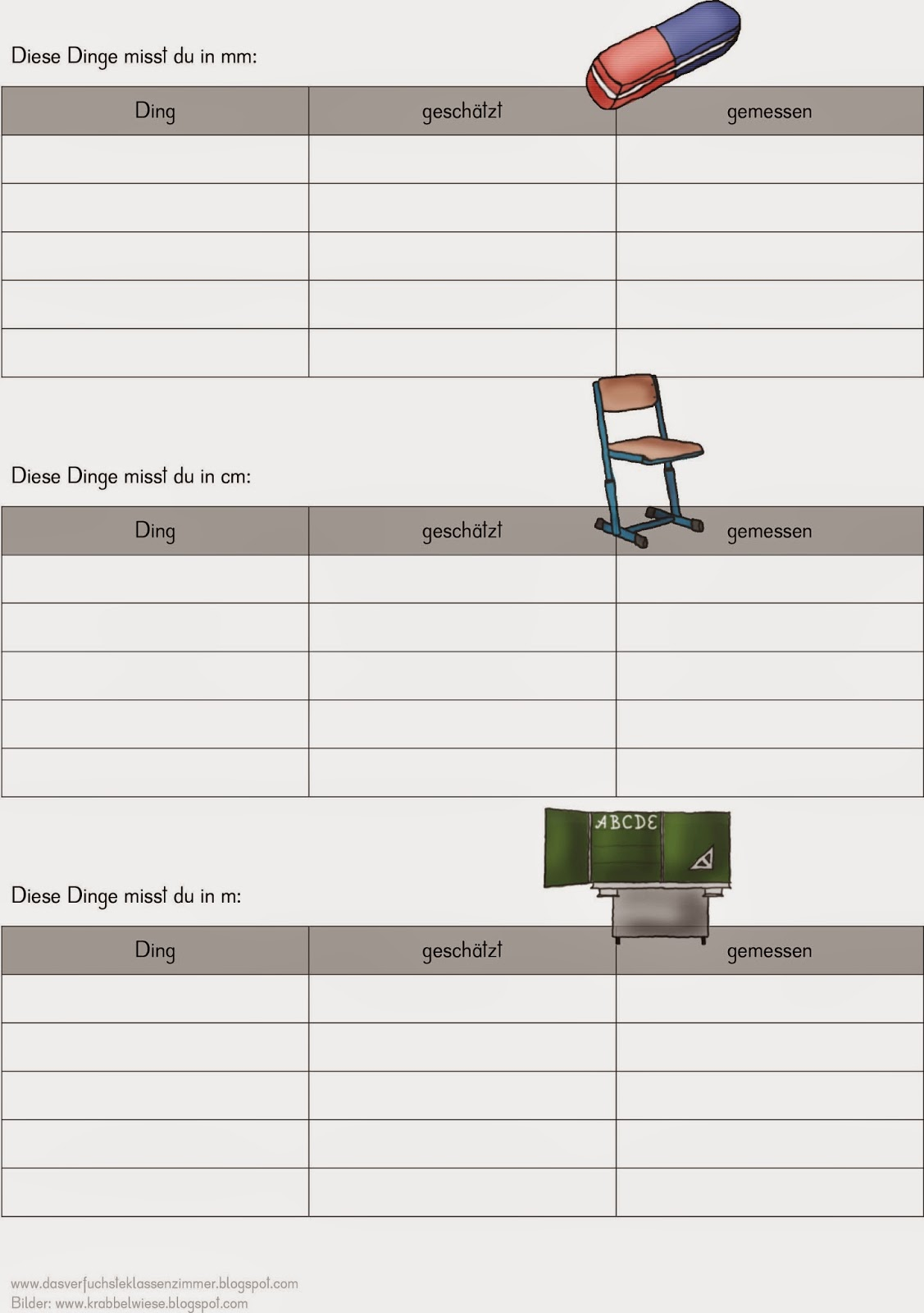 Das verfuchste Klassenzimmer: erst schätzen - dann messen