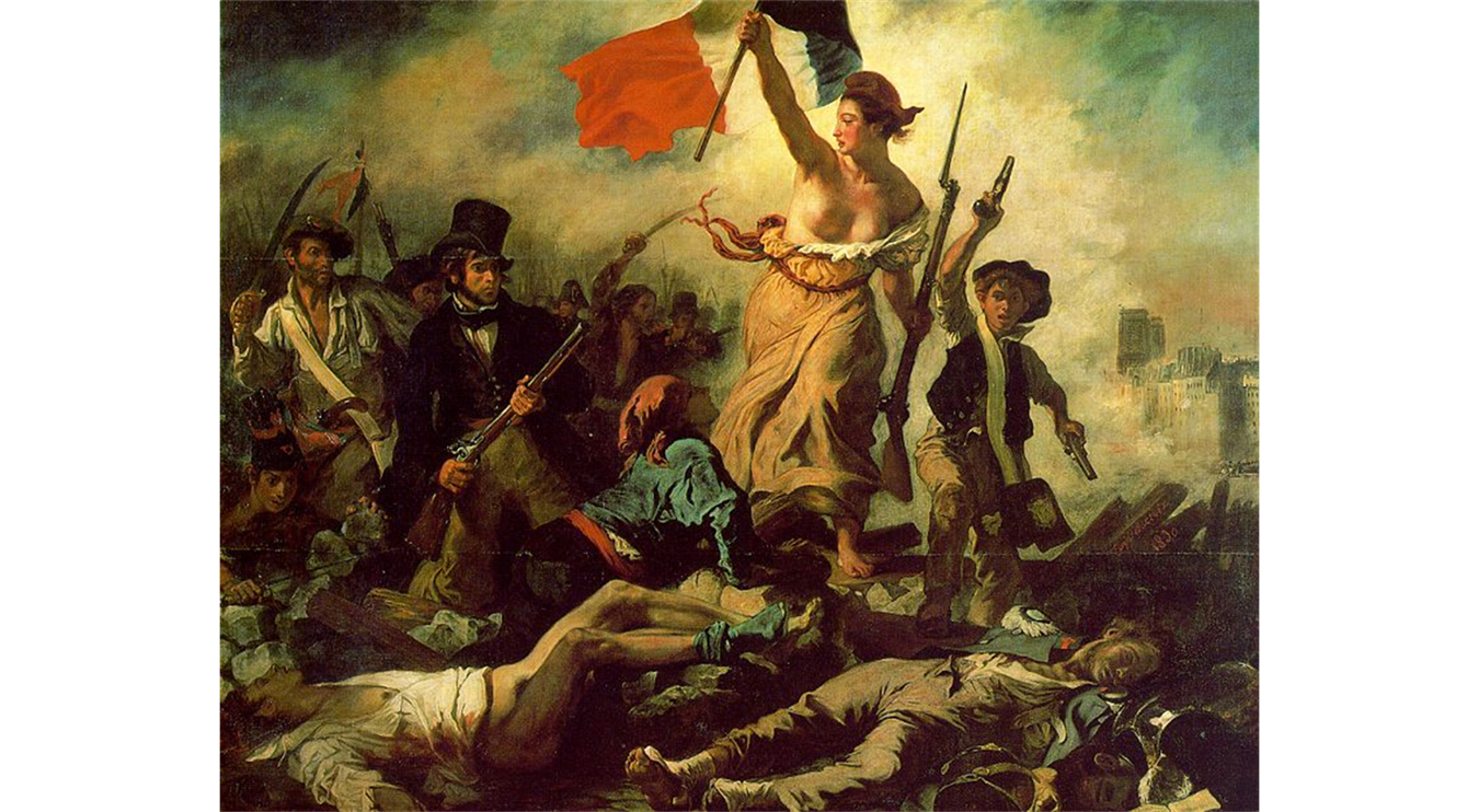 analysis of delacroix liberty leading the people 1830 Perhaps delacroix's most influential and most recognizable paintings, liberty leading the people was created to commemorate the july revolution of 1830, which removed charles x of france from power delacroix wrote in a letter to his brother that a bad mood that had been hold of him was lifting .