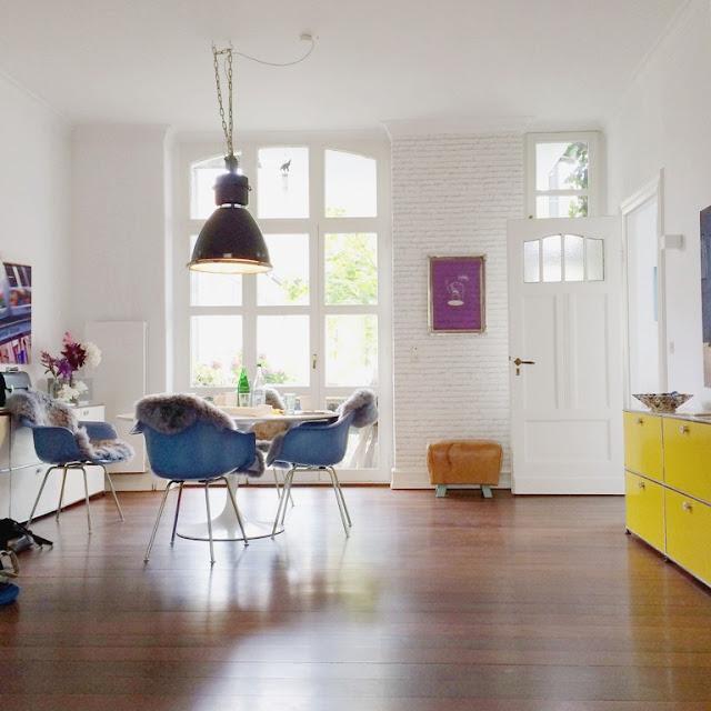 Mmi, mittwochs mag ich, Kölner Altbau, Nippes, Altbauwohnung, Design, interior design, Einrichten, Designklassiker, Eames Stühle, Vintage, Retro, Industriedesign