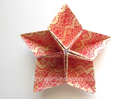 Origami Instructions Origami Kusudama 5 Pointed Star