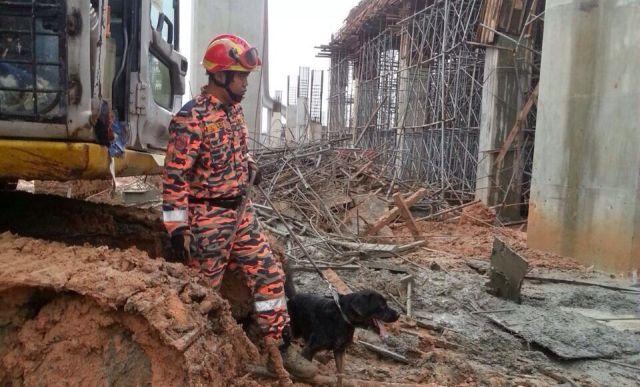 Dua Pekerja Dipercayai Terperangkap Dibawah Runtuhan Konkrit, info, terkini, berita, runtuhan konkrit cair, kemalangan