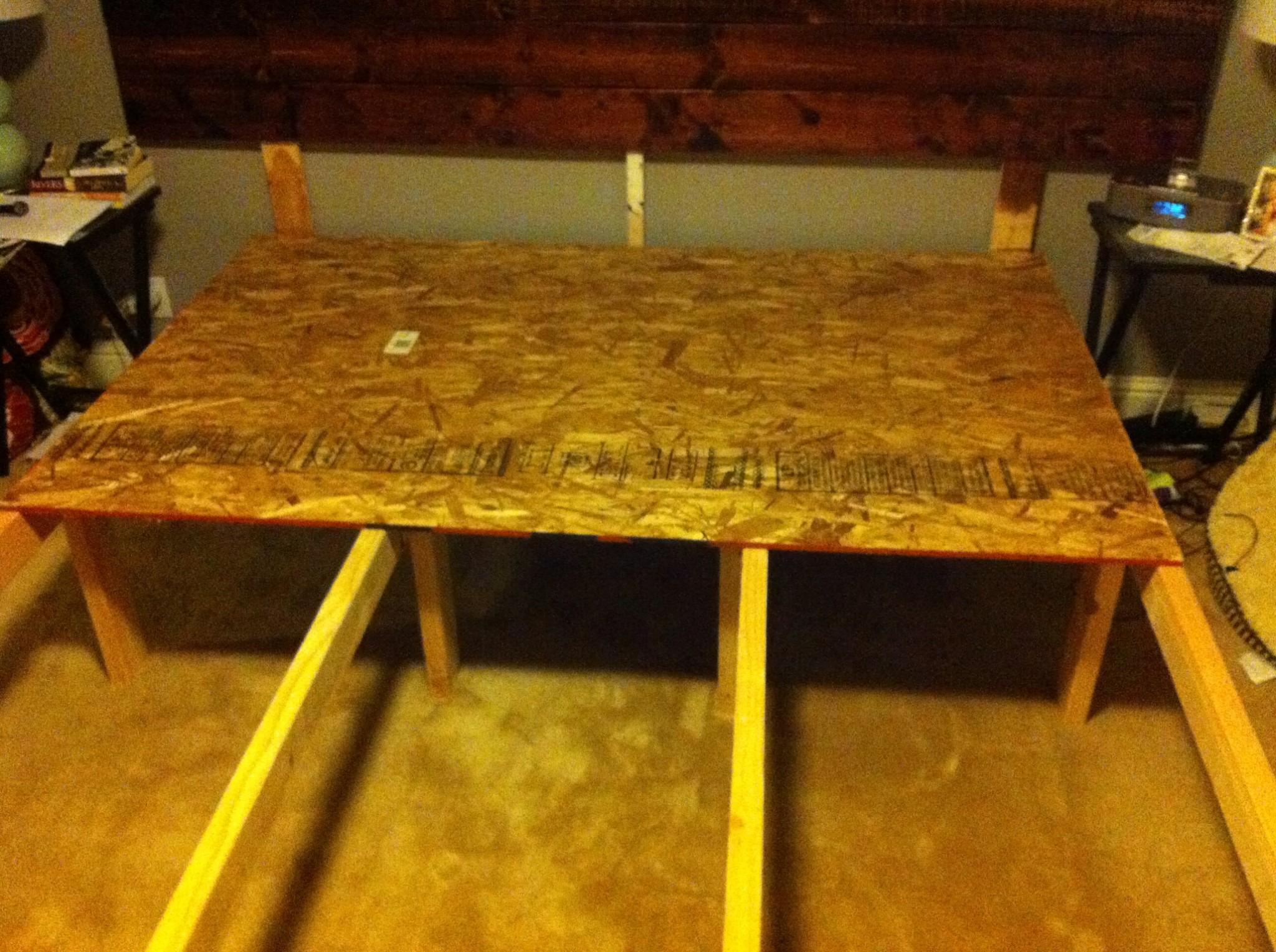 california king platform bed diy