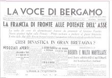 LA VOCE DI BERGAMO 21 GIUGNO 1940 A. XVIII E.F.