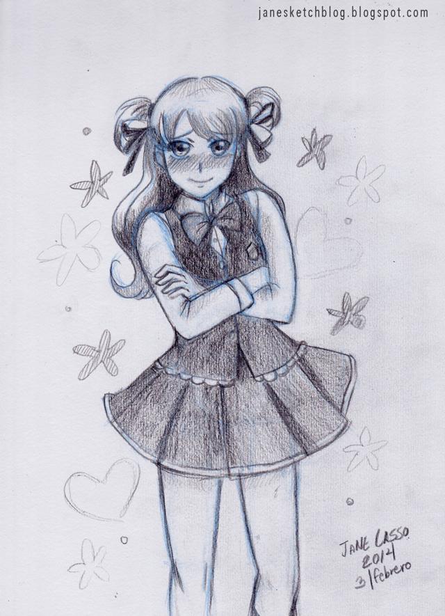 Sketch de chica manga