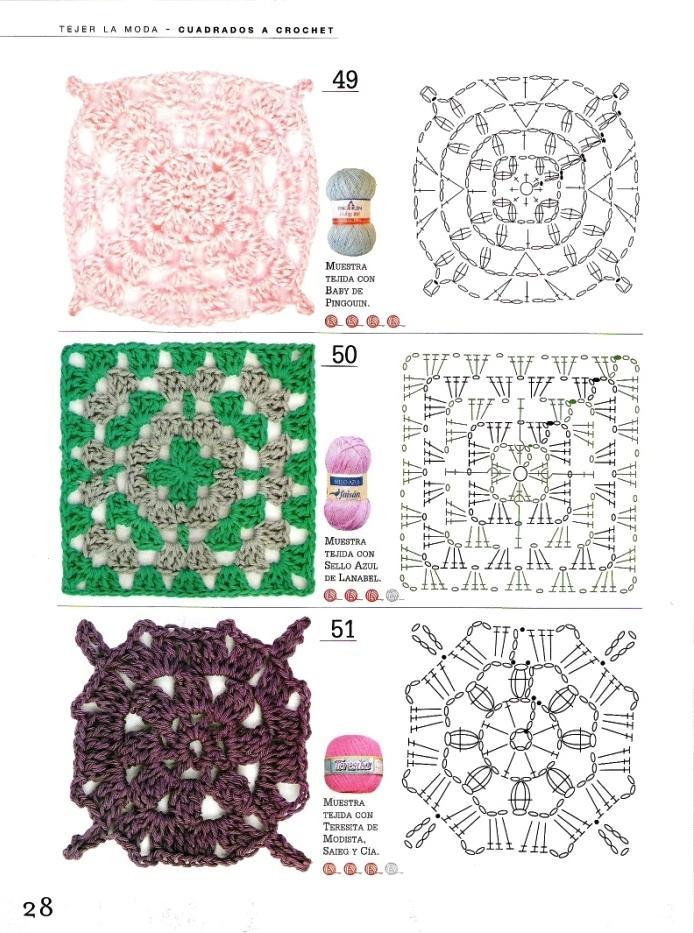 Solo puntos cuadrados crochet - Aplicaciones a ganchillo ...