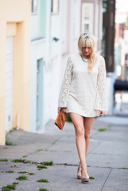 Dale+Steliga+ +Savvy+Spice+fashion+blog+ long+sleeve+lace+H&M+dress+34.95+nude+heels+Stella+&+Dot+necklace