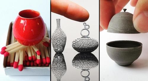 00-Jon-Almeda-Tiny-Miniature-Pottery-Vases-Teapots-and-Bowls