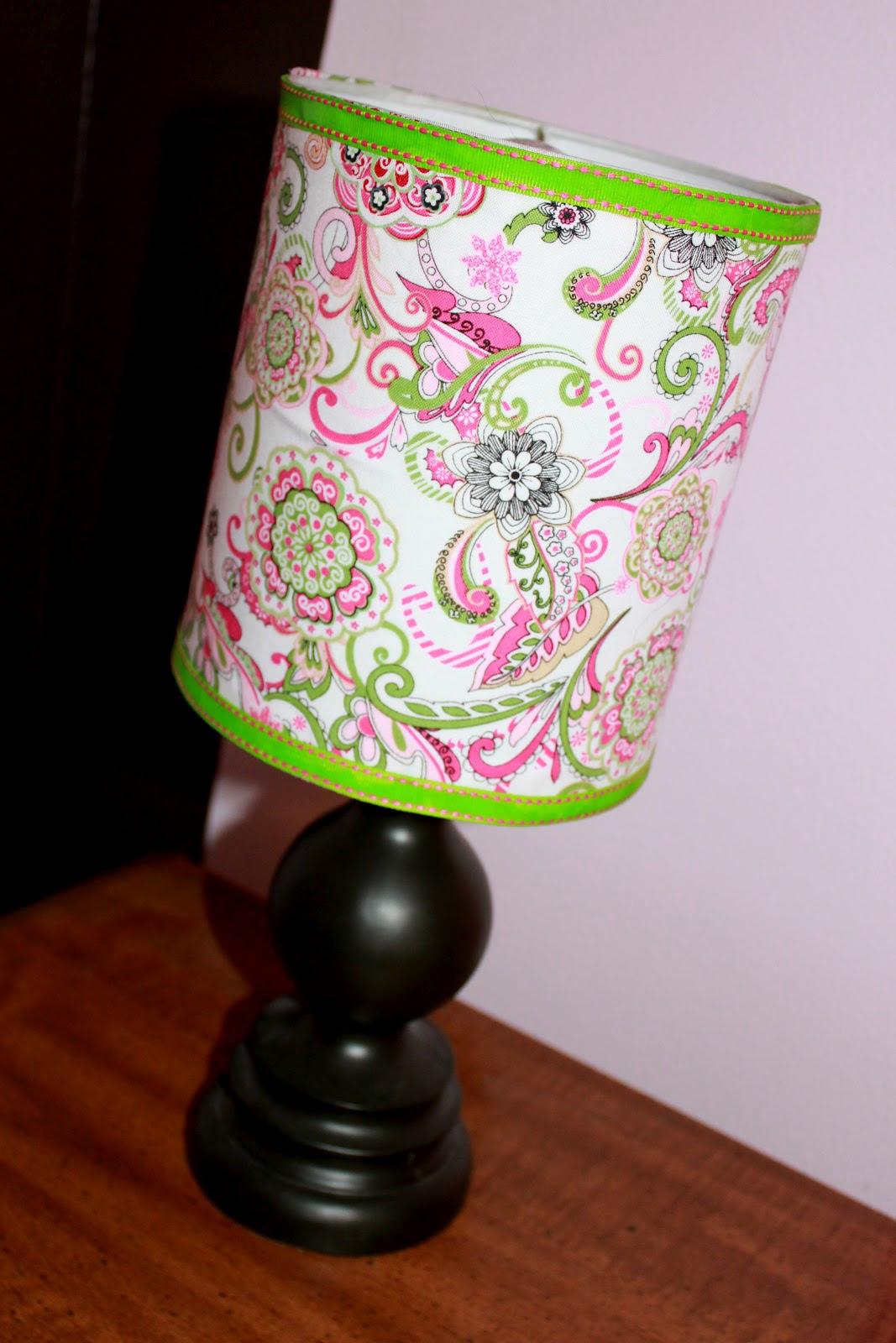 Diy easy way to cover lamp shades between3sisters aloadofball Choice Image