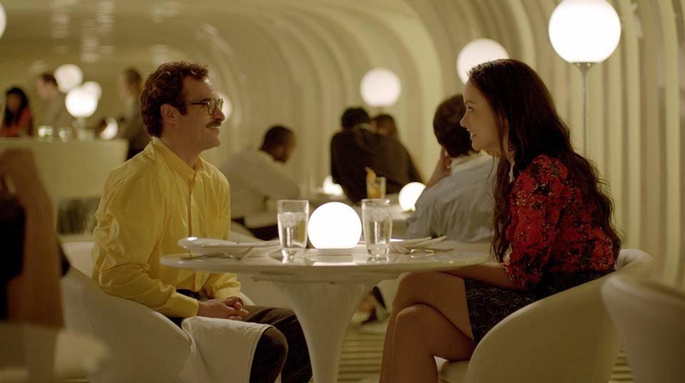 Joaquin Phoenix and Olivia Wilde in Her