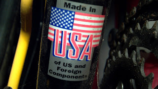 sticker that says made in the usa of us and foreign components