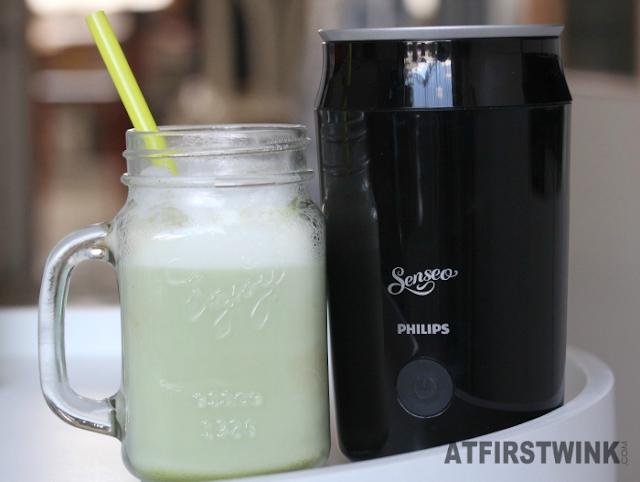 senseo melkopschuimer | green tea latte