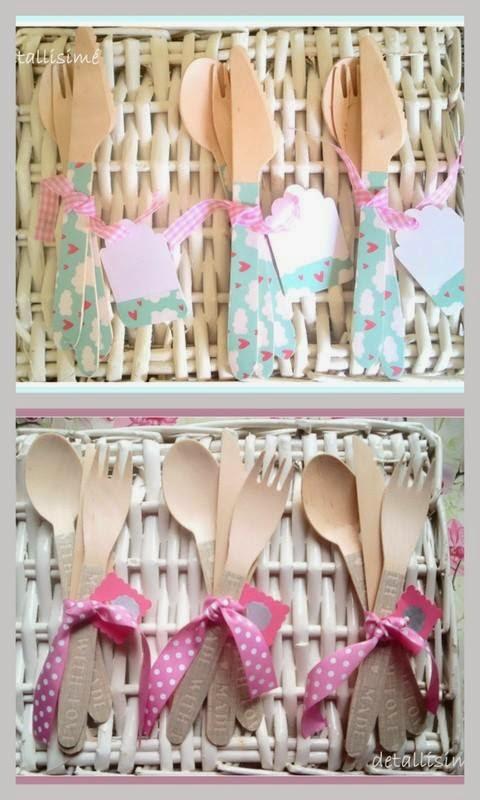 cubiertos de madera decorados